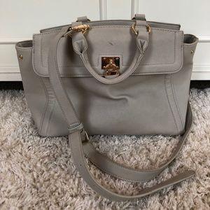 Handbags - NEW pale grey handbag with shoulder strap